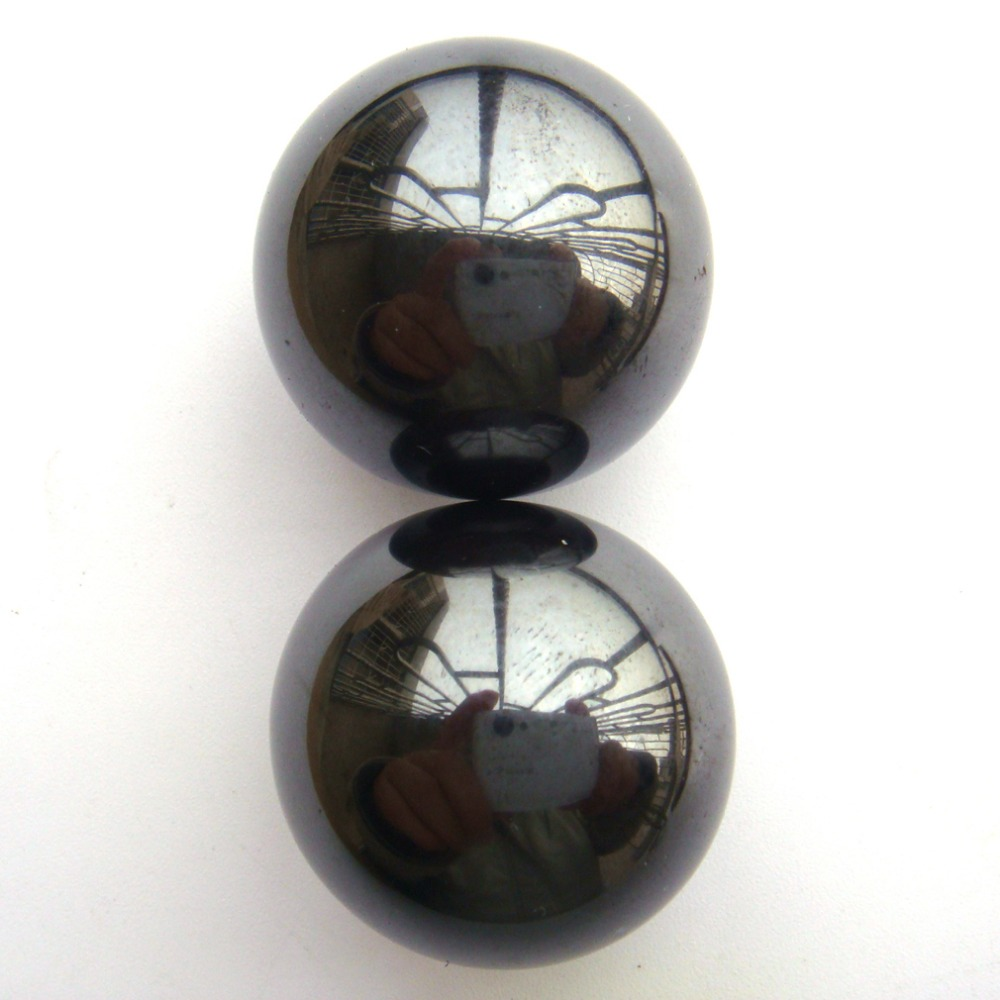 Wholesale 2PCS 29mm Natural Power Magnetic Hematite Magnetite Ball Sphere Polished Healing Specimens Free Shipping(China (Mainland))