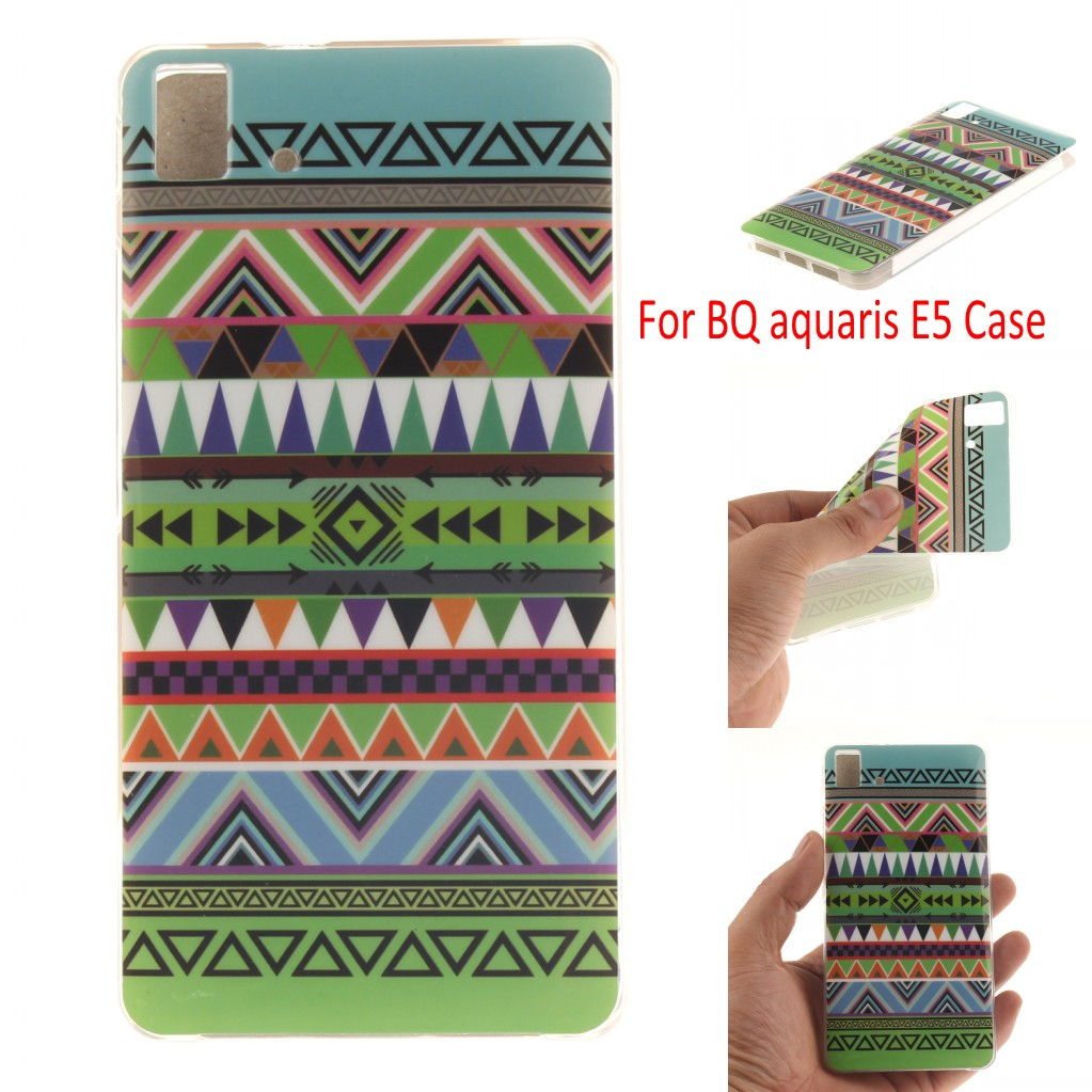 Soft TPU E5 4G Version Case Cover Colored Paiting Case for BQ Aquaris E5 font b
