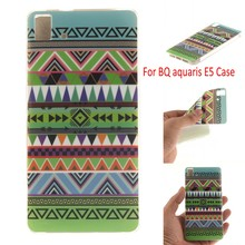 Soft TPU E5 4G Version Case Cover Colored Paiting Case for BQ Aquaris E5 phone coque funda, HY