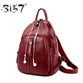 3157 New Design Headphone Function Backpacks Fashion Women Leather Backpack Bags for Teenage Girls Solid Casual Female Backpack