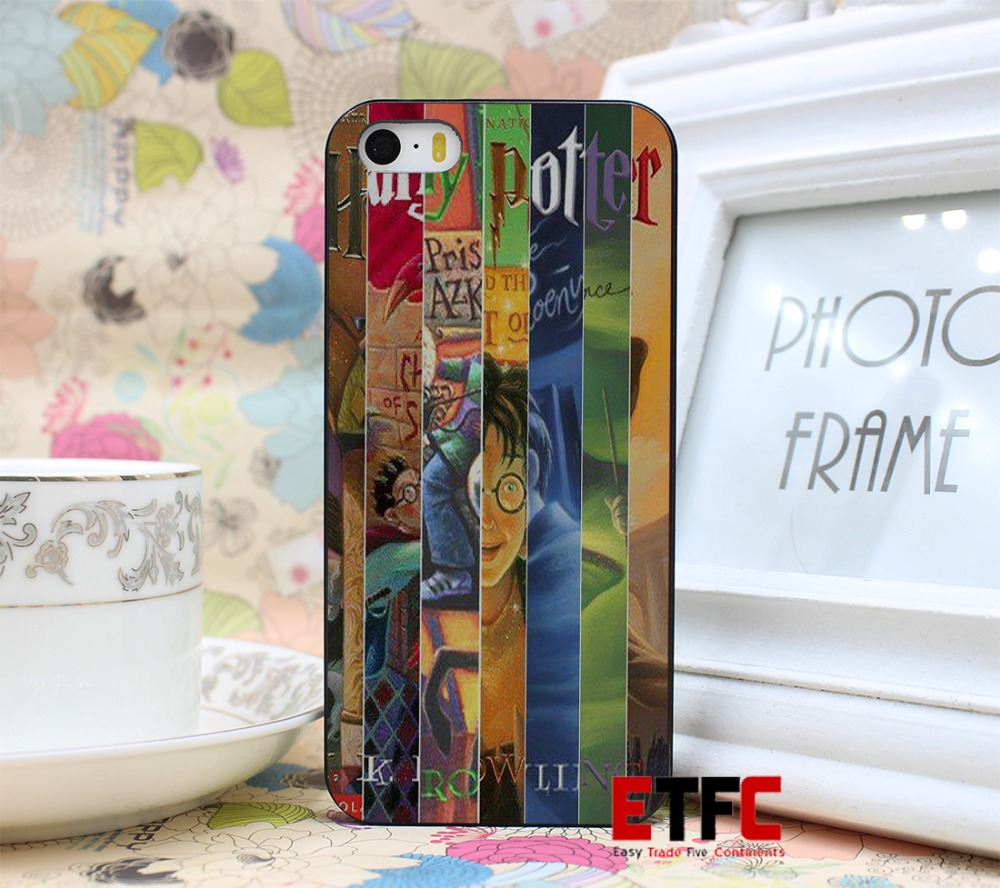 ETFC137 harry potter all books New Fashion Design Hard Black Skin for iPhone 5 5s 5g Case Cover(China (Mainland))