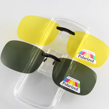 Buy Unisex Polarized Sunglasses Clip Aviate Drive Sun Glasses Spectacles UV400 Goggles Eyeglasses Yellow Night Vision Glasses for $6.96 in AliExpress store