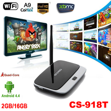 Quad Core ARM Cortex A7 Rockchip RK3128t CS-918T 2G/16G Android 4.4 TV Box XBMC DLNA OTG 1080P Bluetooth 4.0 WiFi Set Top Box(China (Mainland))
