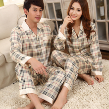 Lover Imitated Silk Sleepwear Robes Long Sleeve Pajamas Sets Lovers Homewear Sleepwears(China (Mainland))