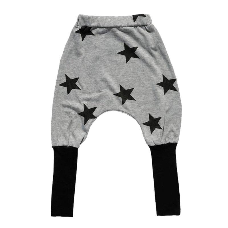 Cotton Blend Pants Casual Toddler Kids Baby Boys Girls Star Pattern Harem Pants(China (Mainland))