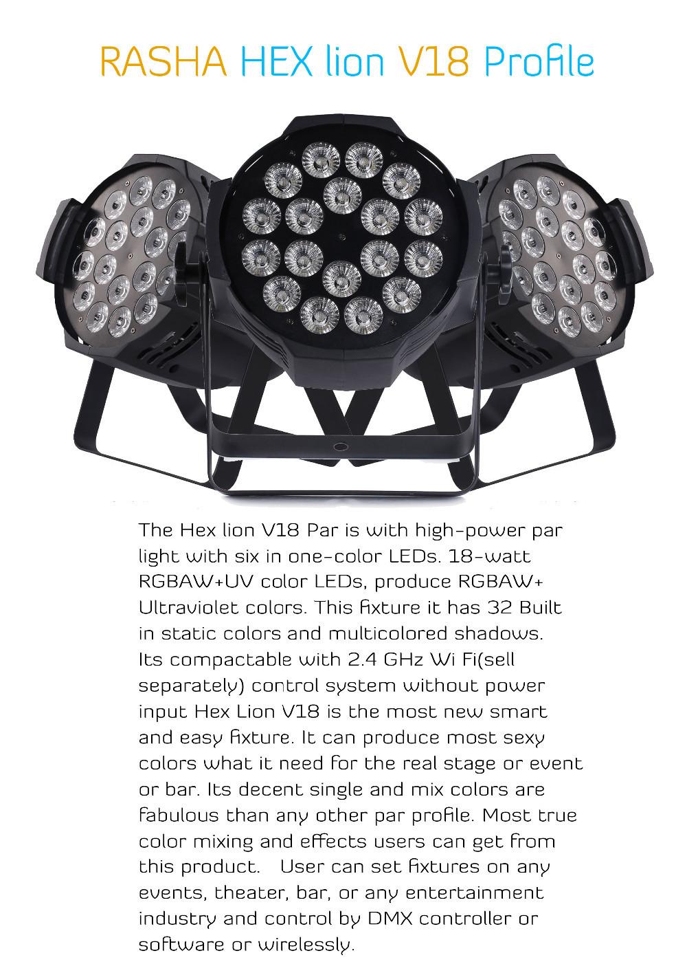 Купить 12 шт./лот Раша Лучший Продажа 18*18 Вт 6IN1 RGBAW UV LED Par Can С PowerCON DMX В и Для Disco Party Событие