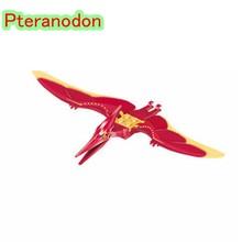 Legoing Jurrassic Del Mondo 2 Animali Jurassic Dinosauri Parco Set Velociraptor Blu T-Rex Triceratop Indomirus Blocco Legoings Animale(China)