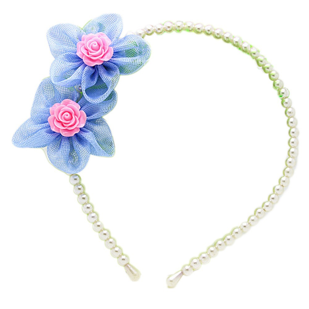 New Arrival Fashion Sunflower Shaped Pearl Hair Clasp Children's Headwear Charming Hair Styling Accessories 6 Colors YBB-0304(China (Mainland))