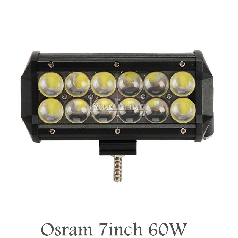 Osram fish eyes 7inch 60W 4D offroad spot beam LED light bar for SUV ATV 4WD