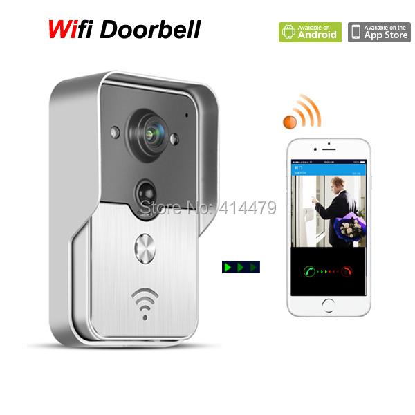 Wireless Wfi Video door phone Doorbell Intercom Camera via Mobile smart phone Control Unlock Record Take Photo(China (Mainland))
