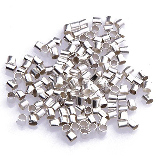 10000pcs/lot Fashion Jewelry Findings Crimp Clips Fasteners Clasps