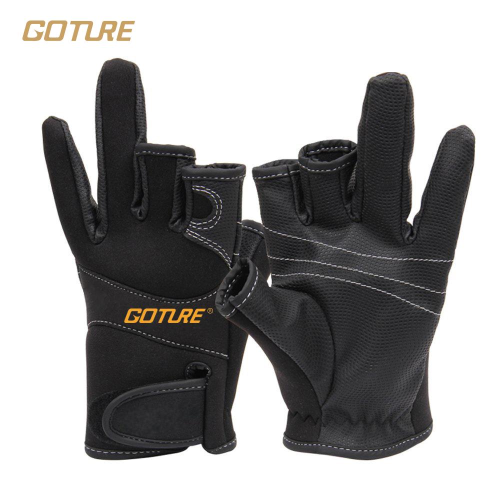 Buy goture anti skid winter fishing for Fingerless fishing gloves