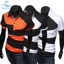 Bebling 2015 baru panas pria pakaian kasual, Mens polo shirt, Merek olahraga ditambah ukuran kebugaran Camisetas Masculina polos hombre16-008