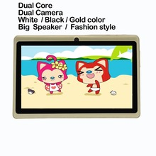 """7"""" Dual Core Tablet PC Android 4.4 Dual Core WiFi Gold Tablet PC Be good for promotion and gift given Dual Camera(China (Mainland))"""