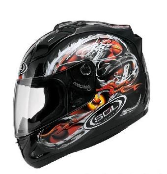 Free shipping racing helmet SOL 68S motorcycle helmets motorcycle helmet full helmet with LED running lights /Black Dragon(China (Mainland))