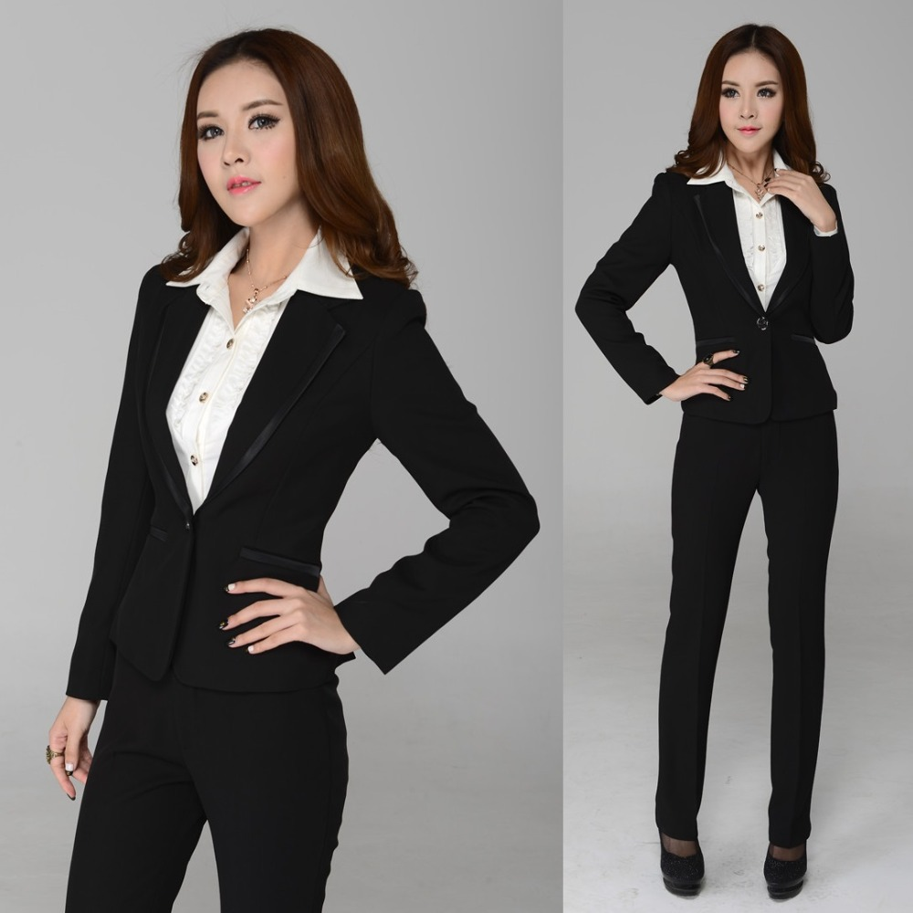 New 2015 Autumn and Winter Formal Women Pant Suits Work ...