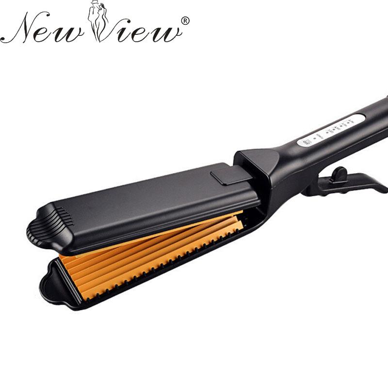 Hair Straightener Flat Iron Professional Ceramic Chapinha Nano Titanium Straightening Corrugated Curling Curler Styling Tools(China (Mainland))