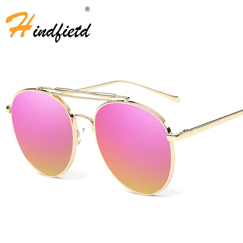Womens Sunglasses Fashionable Aviator Sunglasses Reflective Sun Glasses Mens Sunglasses Brand Designer Lunette De Soleil(China (Mainland))