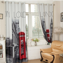 "[55""x102"" ] British Curtains Made ready 1 PANEL LINED THERMAL BLACKOUT GROMMET WINDOW CURTAIN DRAPE Curtains With London(China (Mainland))"