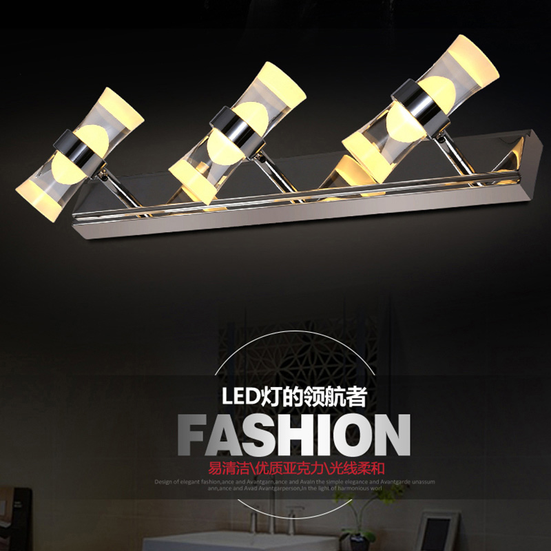 led mirror light 6w Stainless Steel bathroom wall lamp vanity wall lights for home bedroom led modern mount lamp<br><br>Aliexpress