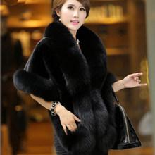 חדש חתונה הכלה Coat Jacket פו הפרווה נשים מסיבת ערב צעיף שמלת כורכת הפרווה גלימת פרווה מזויף גברת Slim WZ134 שכמיות כתף(China)