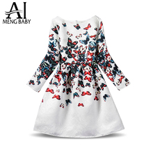 Buy Ai Meng Baby Dress Girl Autumn Dresses Brand Girls Clothes Long Sleeve Floral Print Children Clothing Teenager Girl 12 Years for $6.98 in AliExpress store