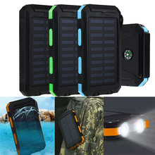 Simplestone Waterproof 20000mAh Dual USB Portable Solar Charger Solar Power Bank For Phone Dec6(China (Mainland))