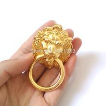 10 шт. античная золотой лев глава кабинет ручки ручка ящика потяните шкаф ящика дверная фурнитура кухня вытащить