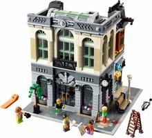 2016 New LEPIN 15001 2413Pcs Creator Brick Bank Model Building Kits Minifigure Blocks Bricks Toy Compatible With Legoe(China (Mainland))