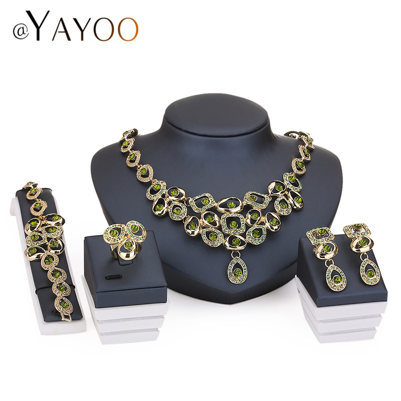 jewelry sets for party bridal crystal wedding dress accessories set