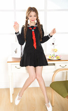 Buy Hell Girl Enma Ai Cosplay Costume Women Halloween Cosplay clothes,Sailor School Uniform Cosplay Costume Black Free for $19.99 in AliExpress store