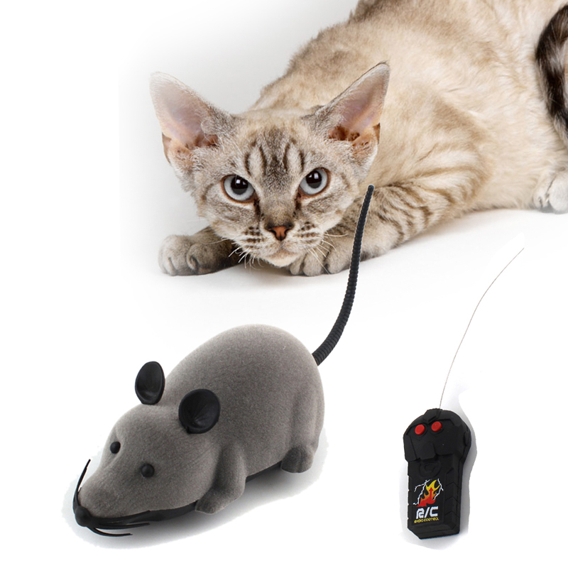 Funny Wireless RC Rat Mice Mouse Novelty Remote Control Cat Dog Toy Mouse Pet Gift Color Randomly