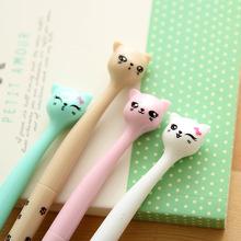Южная корея творческих канцелярских студенческих поставок каваи милый мультфильм кошка черная гелевая ручка роше запустить симпатичные школьные принадлежности papelaria