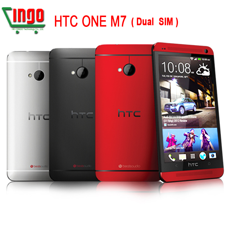 Hot sale HTC One M7 EU 802D Dual SIM GPS WIFI 4.7''Touch Screen Quad-core1.7GHz 4MP camera 32GB Unlocked CellPhone free shipping(China (Mainland))