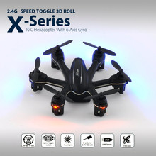 2016 MJX Electric RC helicopter 4 Channels 6Axis MJX X901 Quadcopter White And Black Mini Drone With LED Light