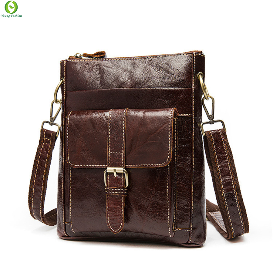 100% genuine leather bag mens shoulder bag Vintage Small men messenger bags real leather cross body bags for men new 2016(China (Mainland))
