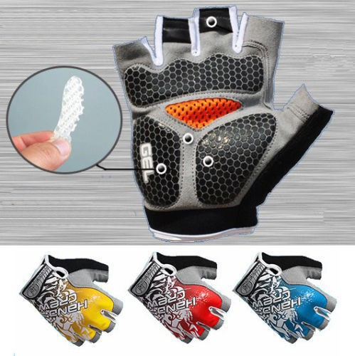 2015 New Arriva!New High Quality Cycling gloves Bike Bicycle gloves Hexagon 3D GEL Shockproof Sports Half Finger Glove Size M-XL(China (Mainland))