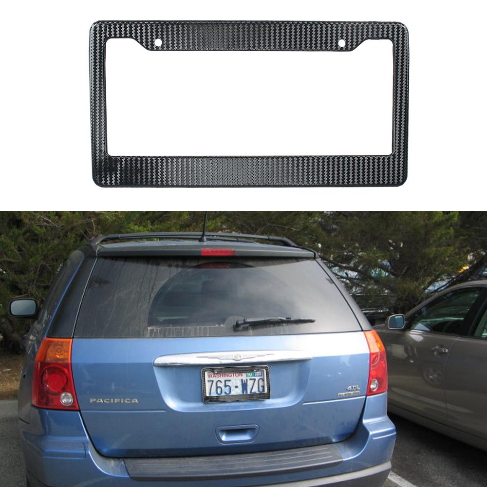 2 Colors Auto Carbon Fiber License Plate Frames Truck Number Plates Frame Holder Car Plate Holders(China (Mainland))