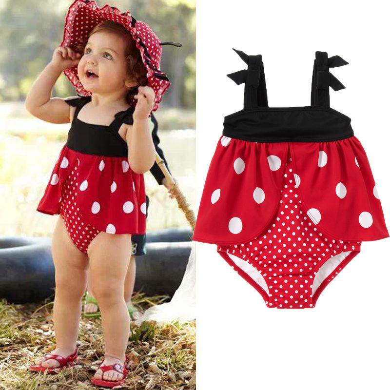 Splendid Little Dot One Piece Big girl Red Swimwear Tankini Dress Bikini+T-Shirt bikinis maillot de bain(China (Mainland))