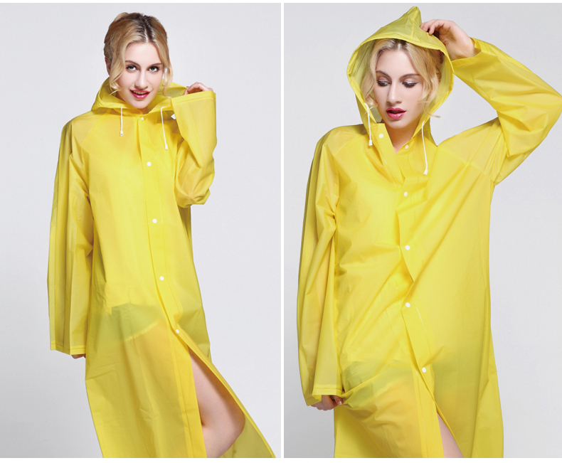 2017 split raincoat fashion dry super waterproof jackets women's long design with a hood poncho high quality plastic raniwear