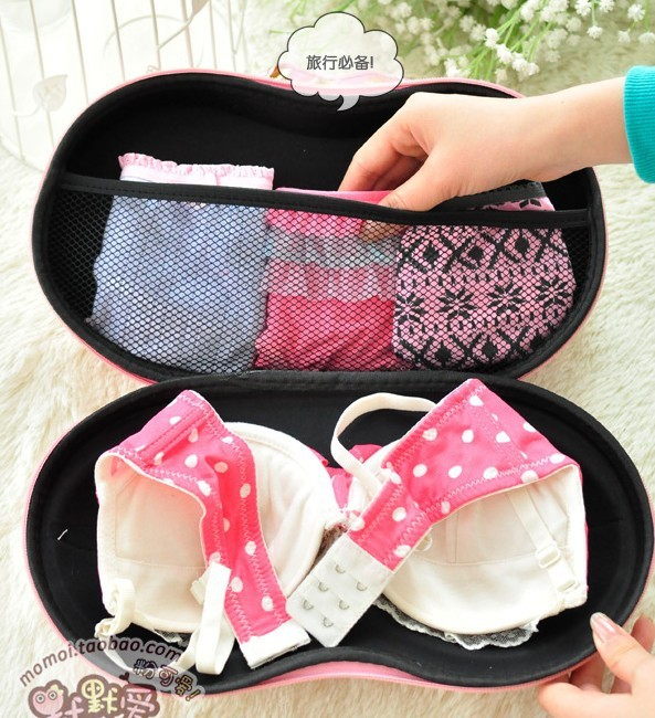 New 3D Underwear Storage Box Covered Bra Box Panties Socks Travel Portable Bra Bag(China (Mainland))