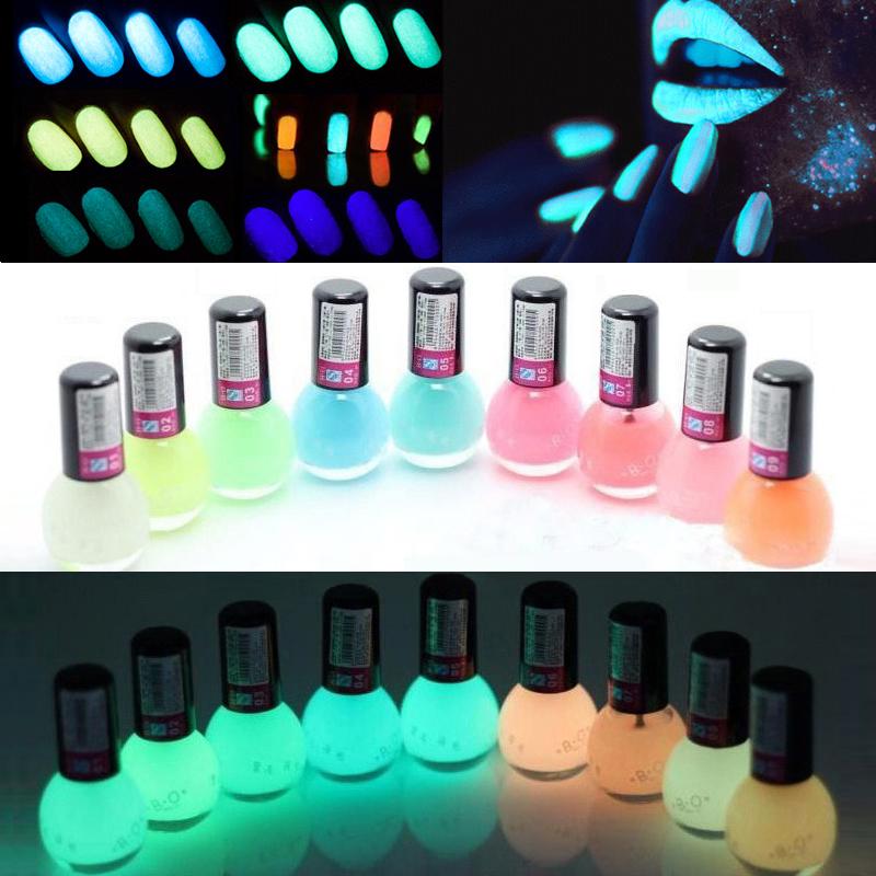 1Pcs 12 colors Fluorescent Neon Luminous Gel Oil Matte Nail Polish Transparent Nail Varnish Lacquer Paint Nail Art Glow in Dark(China (Mainland))