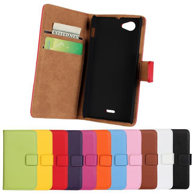 100%Genuine leather for Sony Xperia J St26i flip case flip cover Flip vertical cell Phone Leather wallet Mobile phone holster