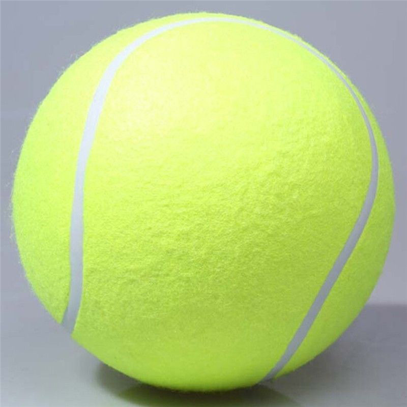 24CM Giant Tennis Ball For Pet Chew Toy Big Inflatable Tennis Ball Signature Mega Jumbo Pet Toy Ball Supplies Outdoor Cricket(China (Mainland))