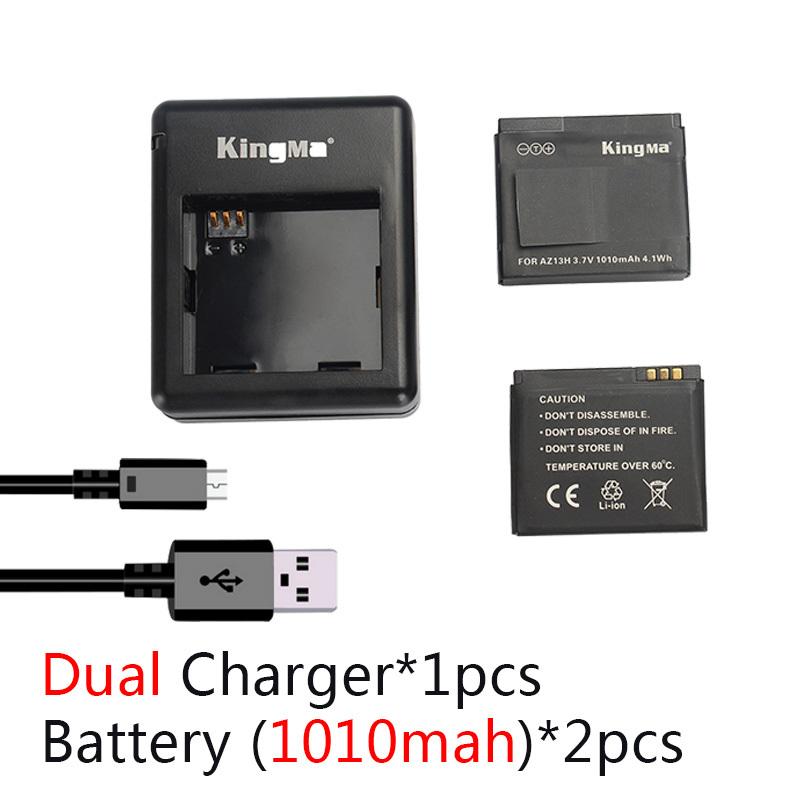 Xiaomi yi Battery 2PCS 1010mAh Xiaoyi Battery Xiaomi Yi Battery Double Dual Charger For Yi Action