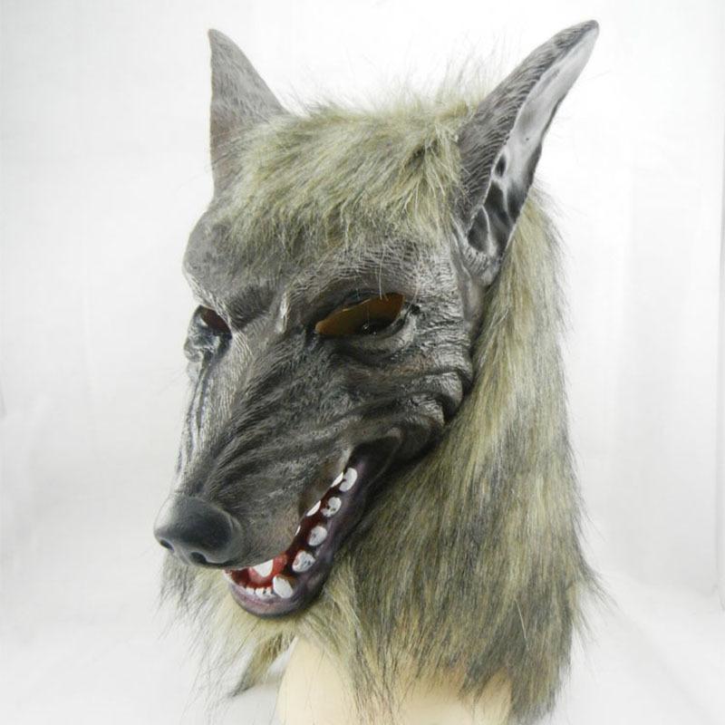 The devil terror Halloween Mask Masquerade Mask props full head wolf head(China (Mainland))