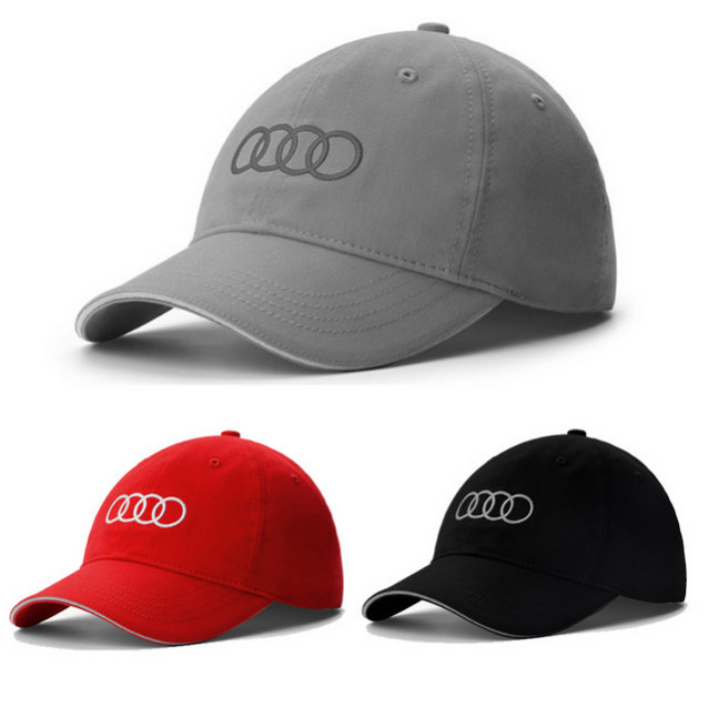 2015 New Baseball Cap Vehicle Brand With Tag Cotton Audi Golf Cap Men Women Black Grey Red Car Fans snapback Free Shipping(China (Mainland))