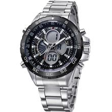Wh1103 WEIDE vestido Relogio Masculino lujo de la marca hombres del reloj del deporte militar LCD luminoso analógico Digital Display día fecha alarma
