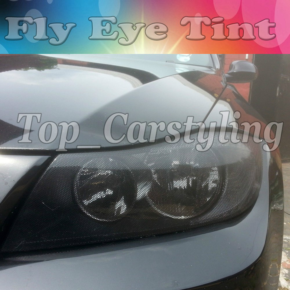 Spi vision Tint Headlight Tinting Perforated Mesh Film Like Fly Eye MOT Legal Size 1.07X50M UK - Top_Carstyling store