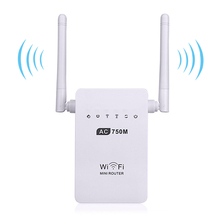 Wireless Wifi Router 750Mbps Mini Repeater Dual-Band 2.4/5GHz Signal Amplifier Booster 802.11 ac/b/g/n - Top Tec Co.,Ltd store